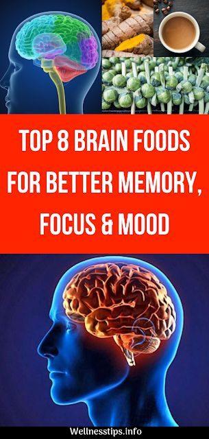Top 8 Brain Foods For Better Memory, Focus & Mood