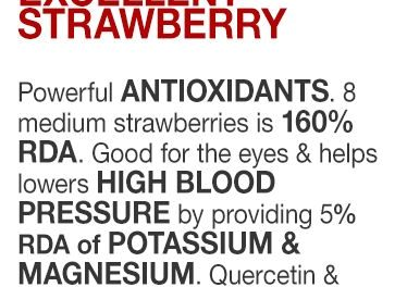 The Berry Excellent strawberry  Powerful ANTIOXIDANTS. 8 medium strawberries is …