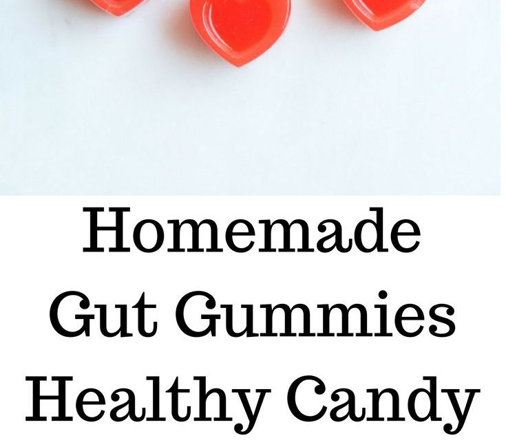 Homemade Watermelon Lemonade Gut Gummies, healthy candy for improved gut health …