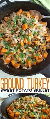 Ground Turkey Sweet Potato Skillet – Life Love Liz