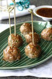Cookin' Canuck | Baked Teriyaki Turkey Meatball Recipe