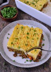 Veganer Shepherd's Pie mit Linsenfüllung (glutenfrei) – Elavegan