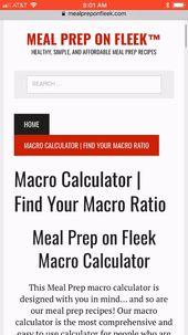 Macro Calculator | Find Your Macro Ratio Today